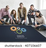 process think collaboration cog ... | Shutterstock . vector #407106607