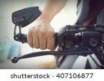 part of motorcycle body  speed... | Shutterstock . vector #407106877