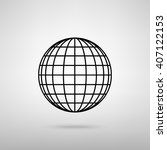 earth globe sign | Shutterstock . vector #407122153
