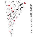 vector illustration of musical... | Shutterstock .eps vector #407124133