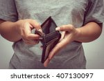 Stock photo an empty wallet with filter effect retro vintage style 407130097