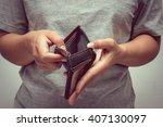 an empty wallet with filter... | Shutterstock . vector #407130097