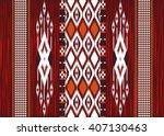 geometric ethnic oriental ikat... | Shutterstock .eps vector #407130463