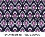 geometric ethnic oriental... | Shutterstock .eps vector #407130907
