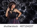 fashion studio photo of... | Shutterstock . vector #407134207