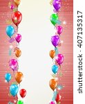 color backgroud with balloons... | Shutterstock .eps vector #407135317