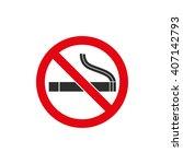 smoke   vector icon. black ... | Shutterstock .eps vector #407142793
