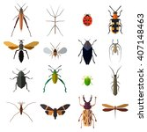 insect big icons set isolated...