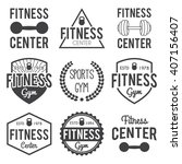 fitness and gym typographic... | Shutterstock .eps vector #407156407
