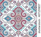 vector tribal mexican vintage... | Shutterstock .eps vector #407159857