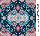 vector tribal mexican vintage... | Shutterstock .eps vector #407160067
