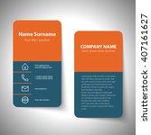 modern simple business card set ... | Shutterstock .eps vector #407161627