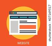 website | Shutterstock .eps vector #407169517