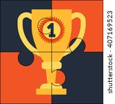 top award puzzle | Shutterstock .eps vector #407169523