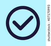 check mark icons | Shutterstock .eps vector #407170993