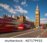 Big Ben In Westminster With Re...