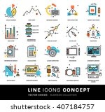 thin line icons set. business... | Shutterstock .eps vector #407184757