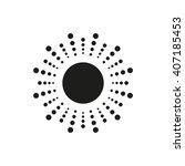 simple sun vector icon.  sun... | Shutterstock .eps vector #407185453