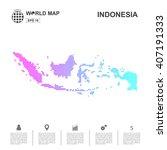 map of indonesia pixel vector | Shutterstock .eps vector #407191333