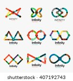 vector infinity logo set  flat...   Shutterstock .eps vector #407192743