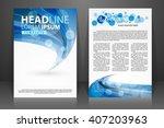 abstract vector modern flyers... | Shutterstock .eps vector #407203963