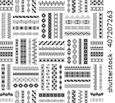 vector decorative seamless... | Shutterstock .eps vector #407207263