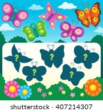 butterfly riddle theme image 3  ...   Shutterstock .eps vector #407214307