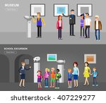 funny character people in... | Shutterstock .eps vector #407229277