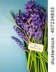 purple spring wildflowers on...   Shutterstock . vector #407234833