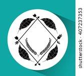 boho style design  | Shutterstock .eps vector #407237353
