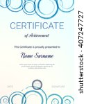 certificate or diploma template.... | Shutterstock .eps vector #407247727
