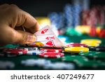 hand holding best deal game... | Shutterstock . vector #407249677