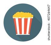 pop corn flat icon | Shutterstock . vector #407264647