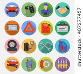 car service flat icons set for... | Shutterstock .eps vector #407277457