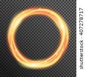 vector fire sparkle spiral wave ... | Shutterstock .eps vector #407278717