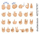 Set Of Hands Icons And Symbols...