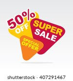 big sale banner. sale 50 off.... | Shutterstock .eps vector #407291467