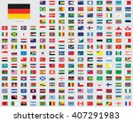 world flag illustrations with a ... | Shutterstock .eps vector #407291983