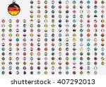 world flag illustrations in the ... | Shutterstock .eps vector #407292013