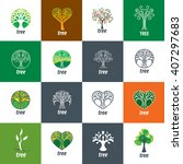 vector logo tree | Shutterstock .eps vector #407297683