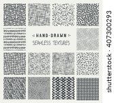 set of hand drawn marker and... | Shutterstock .eps vector #407300293