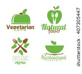 vector set of abstract logos... | Shutterstock .eps vector #407305447