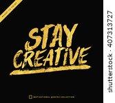 gold hand lettering. modern...   Shutterstock .eps vector #407313727