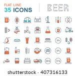 set vector line icons in flat...   Shutterstock .eps vector #407316133