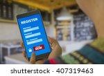 register membership application ... | Shutterstock . vector #407319463