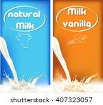 milk splash  package design of... | Shutterstock . vector #407323057