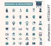 research development icons  | Shutterstock .eps vector #407336197