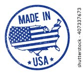 made in usa stamp | Shutterstock .eps vector #407337673