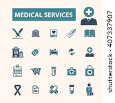 medical services icons  | Shutterstock .eps vector #407337907