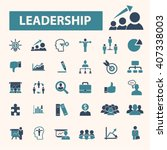 leadership icons    Shutterstock .eps vector #407338003